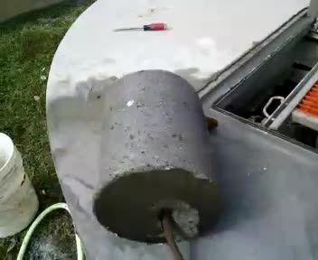 core drill plug