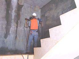 Asheville core drill project near Merrimon Ave.