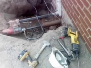 Asheville core drill project near College St.