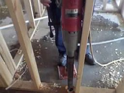 Boone core drill project near Hardin St.
