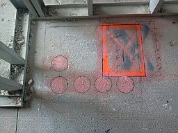 Winston-Salem core drill project near Hanes Mall